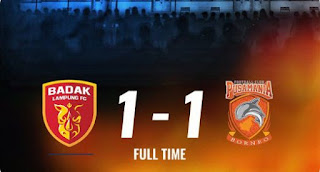 Perseru Badak Lampung vs Borneo FC 1-1 Higlights