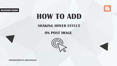 How to add Shaking hover effect on post image