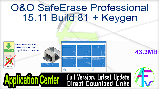 O&O SafeErase Professional 15.11 Build 81 + Keygen