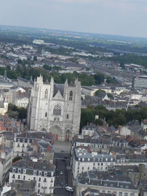 Catedral de Nantes vista da Torre da Bretanha - Nantes - França