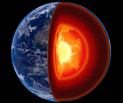 पृथ्वी की मैंटल सतह 60 डिग्री सेल्सियस ज्यादा गर्म Earth's Mantle may be 60 degree celsius hotter than thought