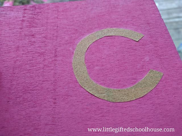 DIY Montessori  Print Sandpaper Letter