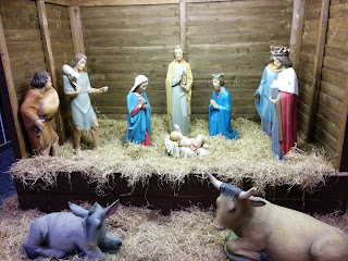 The Nativity Scene from the Shopping Centre