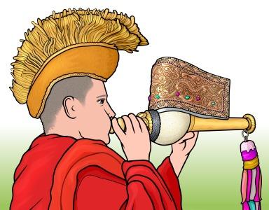 チベットの管楽器 トゥンカル Dung dkar