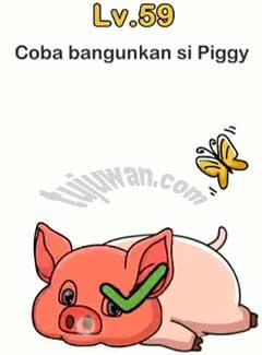 Kunci Jawaban Brain Out Coba Bangunkan Si Piggy
