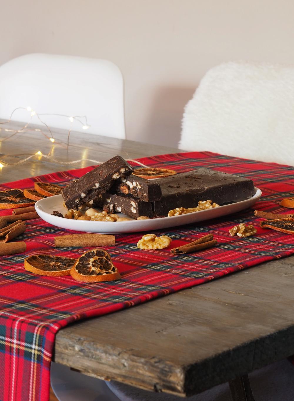 Turrón de chocolate casero sin azúcar2