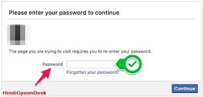 Facebook Enter Password For Verification