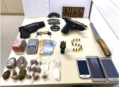Em Major Izidoro, homem é preso por porte ilegal de arma de fogo e tráfico de drogas