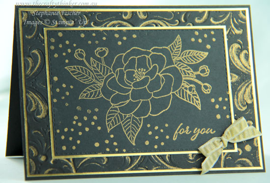 #thecraftythinker #stampinup #cardmaking #heatembossing #somuchlove , So Much Love, Parisian Flourish, Heat Embossing with an embossing folder, Stampin' Up Demonstrator, Stephanie Fischer, Sydney NSW