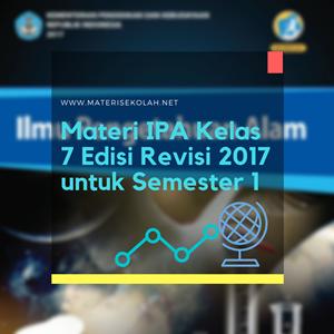 Buku Materi IPA Kelas 7 Revisi 2017 untuk Semester 1