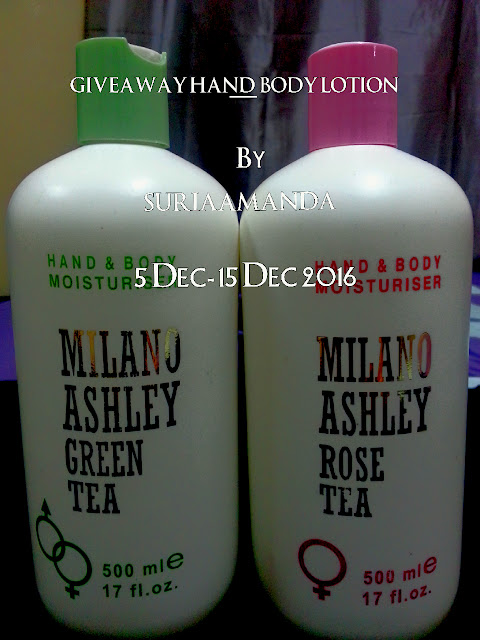 Giveaway Hand & Body Lotion By Suriaamanda