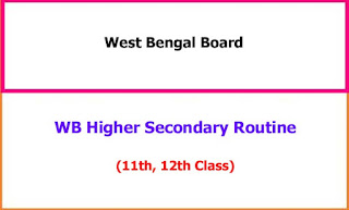 West Bengal Higher Secondary 11th, 12th Exam Datesheet 2021
