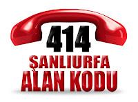 0414 Şanlıurfa telefon alan kodu