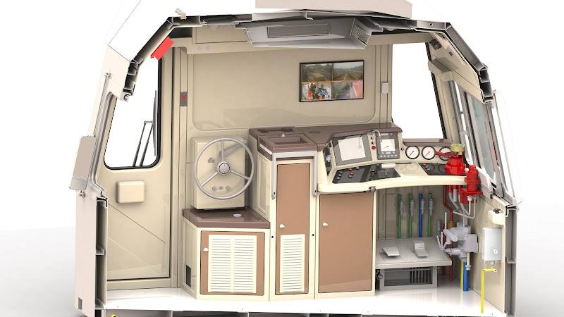 Интерьер кабины тепловоза ТЭМ10