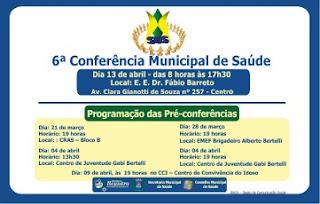 Pré-conferências de Saúde começam nesta quinta-feira, 21 de março em Registro-SP