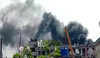पटना के पीएमसीएच में लगी आग, तीन दमकल वाहन मौके पर पहुंचे