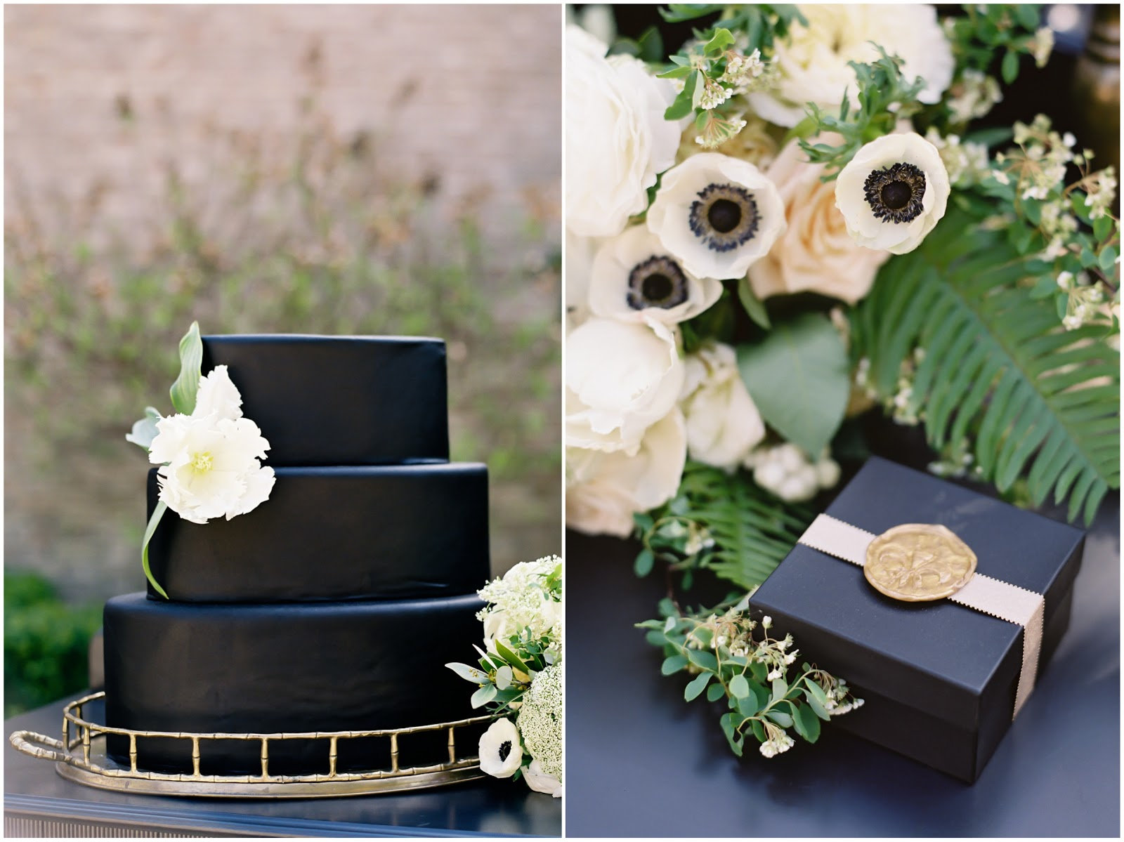 Antique Gold and Black, Wedding Inspiration