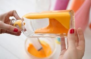 Cara Membuat Kerajinan Tangan Yang Mudah, Vas Dari Botol Bekas 3