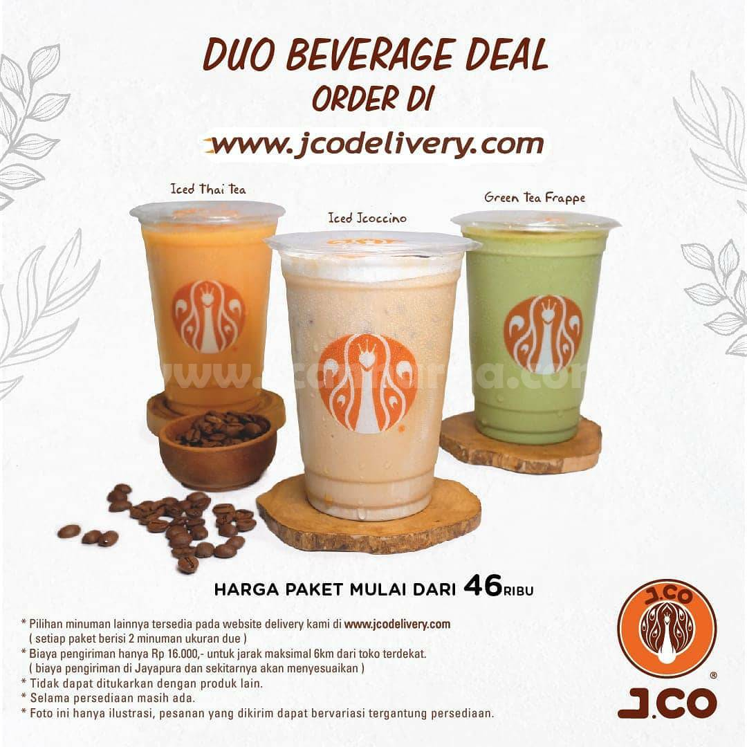 JCO Promo Duo Beverage Deal: Harga Paket mulai dari Rp 46.000