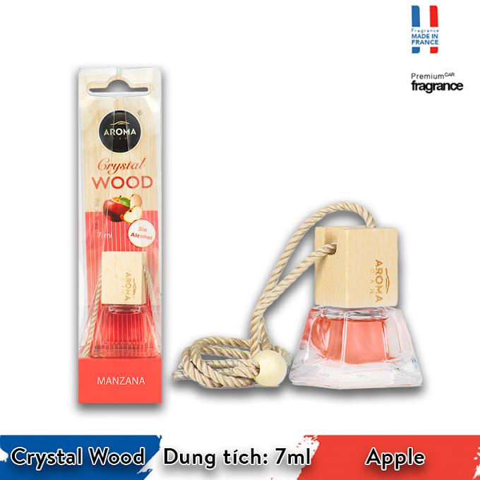 Tinh dầu treo ô tô Aroma Car Crystal Wood 7ml - Apple