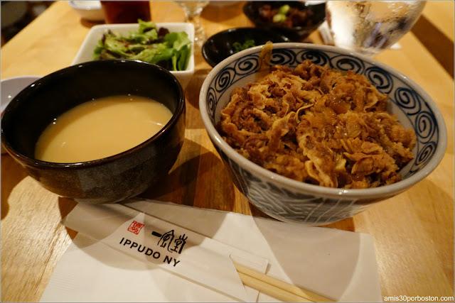 Menú del Restaurante de Ramén Japonés Ippudo Westside en Nueva York