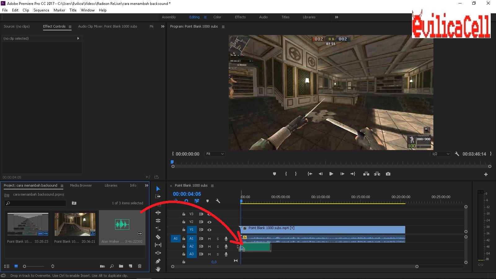 Cara Menambah Backsound Video Adobe Premiere Evilicacell