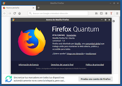 Acerca de Mozilla Firefox