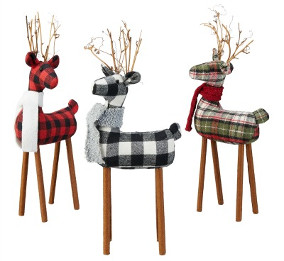flannel reindeer set