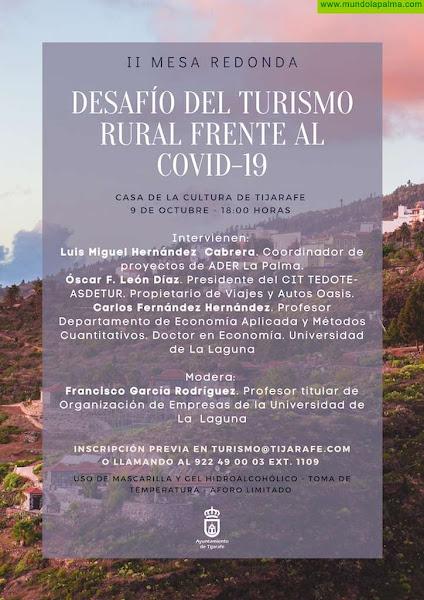 "Tijarafe celebrará la II Mesa Redonda ""Desafíos del Turismo Rural frente al COVID-19"""
