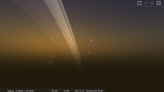 Stellarium - Cielo de Saturno