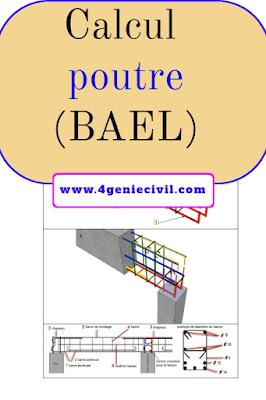 Exemple de calcul de poutre selon le BAEL