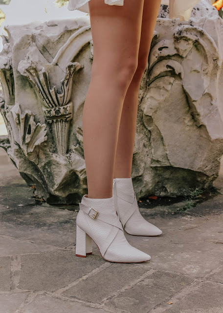 sexy white high heel ankle boots