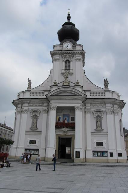 kerk in Wadowice waar Paus mis opdroeg
