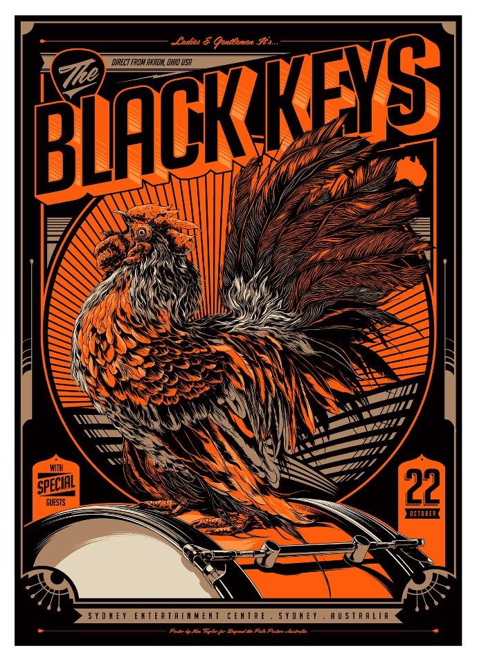 inside the rock poster frame blog tonights the black