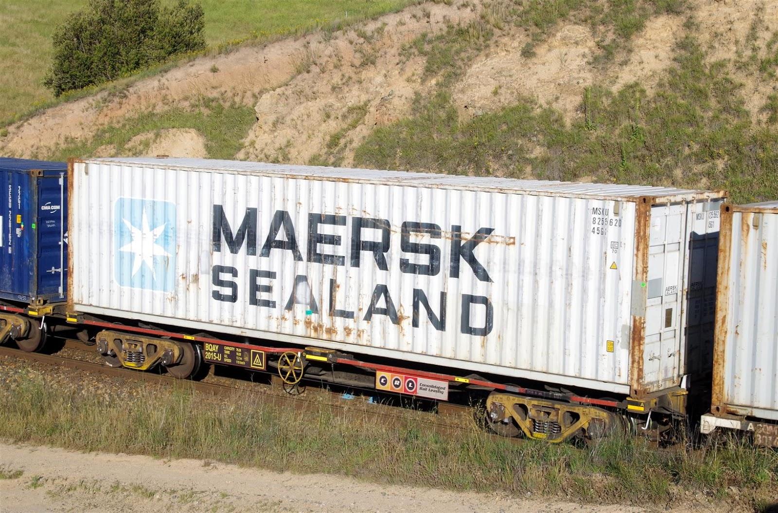 Rollingstock News: Battered Maersk Boxes