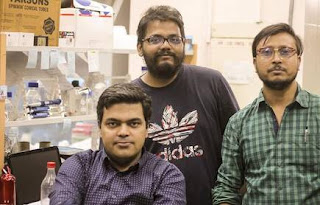 "Iitk Iitk  Strategy ""Our antibodies prevent the clathrin protein from binding to beta-arrestins thus preventing endocytosis,"" says Shukla (sitting)."