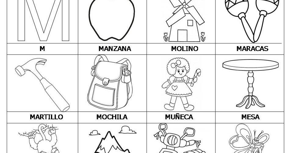 Dibujos Con La Letra M Para Colorear Imagesacolorier Website
