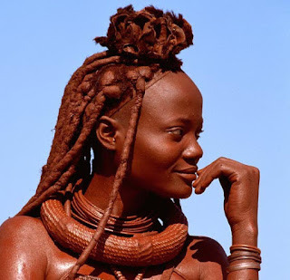 Himba woman living in northern Namibia Africa