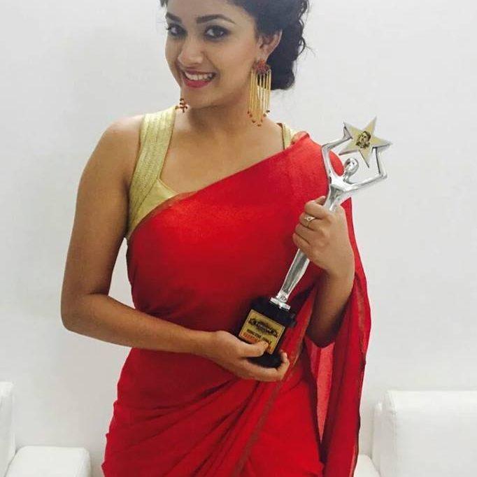 Keerthi suresh win Award Show