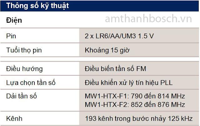 Micrô cầm tay không dây MW1-HTX-F1