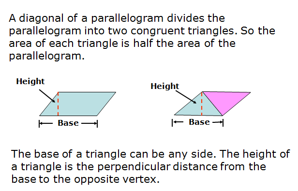 Area of triangles and Trapezoids