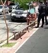 Homem pelado na Avenida Dom José no Centro de Sobral