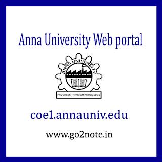 ANNA UNIVERSITY WEB PORTAL