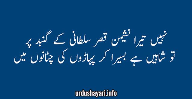 Allama Iqbal Motivational Shayari - Shaheen urdu poetry image