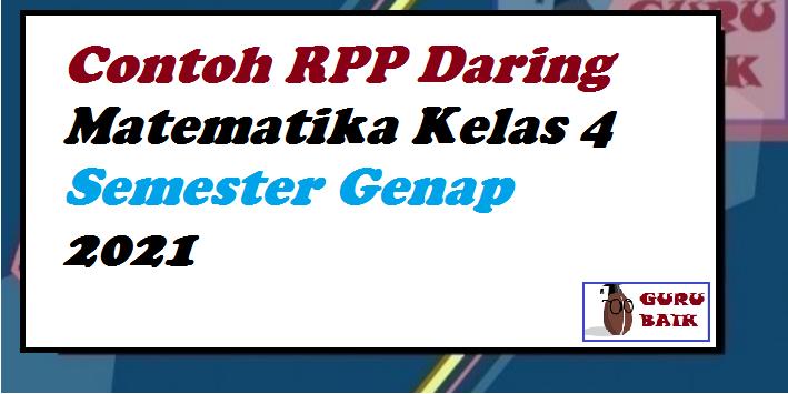 gambar contoh RPP daring matematika kelas 4