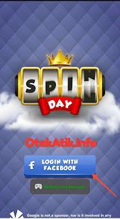 pendaftaran atau login via Facebook