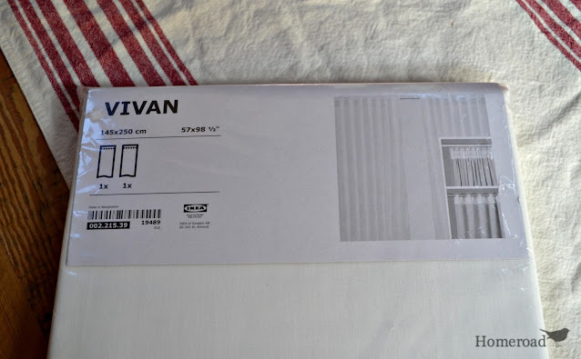 package of ikea vivan curtains