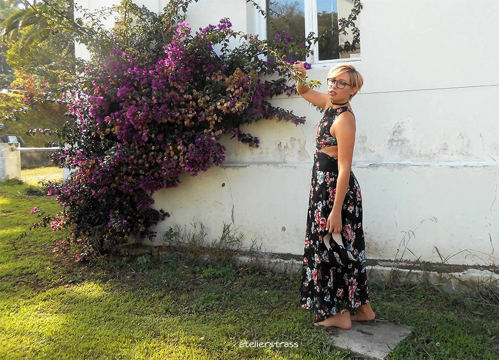 vestido con escote