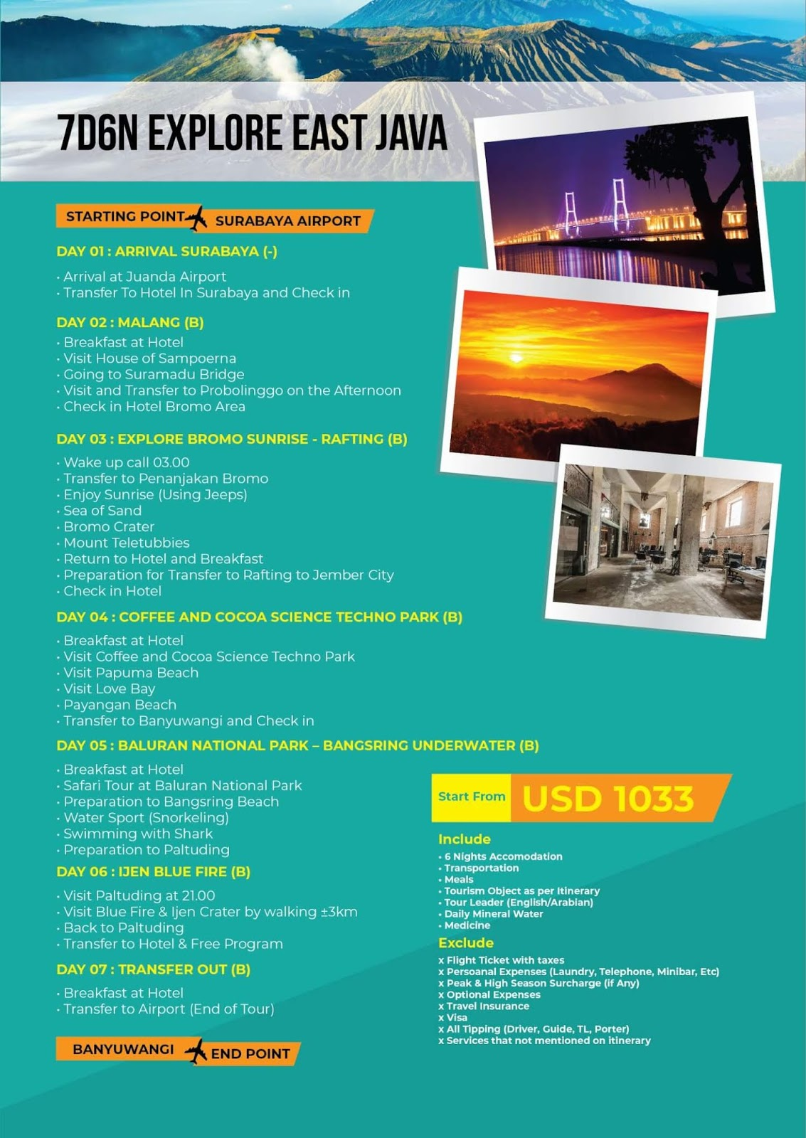 paket tour explore jawa timur