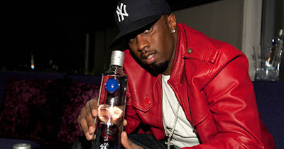 P. Diddy with a bottle of Ciroc Vodka
